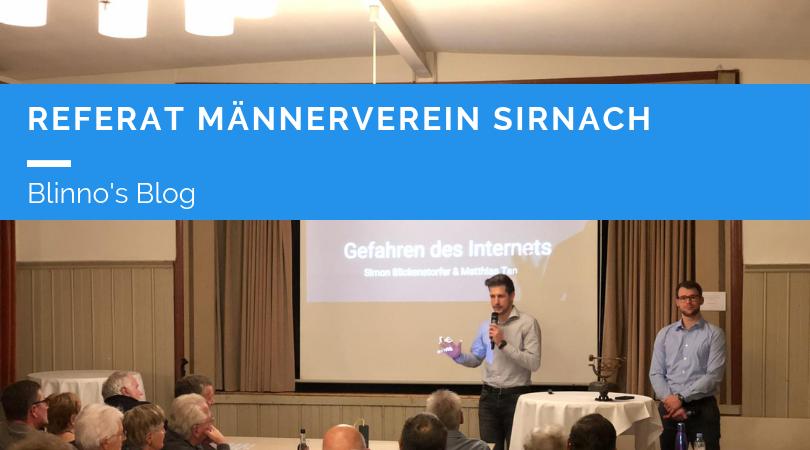 Referat Männerverein Sirnach 20.11.2018